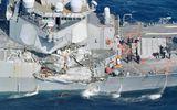 Phát hiện thi thể thủy thủ mất tích trong tàu khu trục Mỹ bị tàu hàng đâm trúng