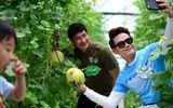 Ăn - Chơi - Diễn viên Huy Khánh, Hồng Phúc tranh tài trong vườn rau sạch