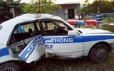 An ninh - Hình sự - Tài xế chở ma túy bỏ chạy, chèn ép khiến xe cảnh sát bị lật
