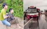 Hiện trường vụ 2 xe khách tông nhau ở Hà Nội, 10 người bị thương