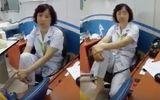 Trần tình của nữ bác sĩ Bệnh viện Mắt gác chân lên ghế