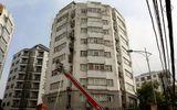 Cảnh sát điều xe thang chữa cháy tòa nhà 9 tầng của Bộ Nông nghiệp