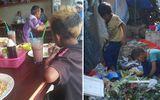"""Đời sống - Bữa cơm no của 2 đứa trẻ """"mẹ qua đời, cha bỏ đi khi em còn đang ngủ"""" sau nhiều ngày bới rác tìm thức ăn"""