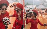 """Xuất hiện trong đám cưới, cặp đôi xứ Huế và dàn bê lễ khiến khách mời choáng váng vì """"ngầu"""" và """"lầy lội"""""""