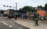 Xe bồn mất phanh đâm hàng loạt xe chờ đèn đỏ, 1 người chết, 3 người bị thương