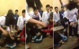 Clip nữ sinh bị nhóm bạn giật tóc, đạp vào đầu gây xôn xao