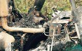 Xe đầu kéo húc vào gốc cây bốc cháy, tài xế tử vong trong cabin