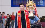 Ngọc Tình về Việt Nam sau khi đăng quang Nam vương Quốc tế