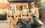 Tin tức - Hà Nội: CSGT bắt thanh niên đi xe tay ga mang biển số giả