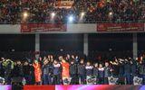 """Clip: U23 Việt Nam hát """"Niềm tin chiến thắng"""" trên sân Mỹ Đình"""