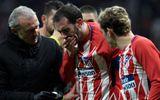 Chiến thắng Valencia, cầu thủ Atletico Madrid gãy răng vì va chạm