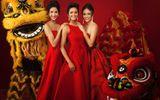 Top 3 Hoa hậu Hoàn vũ Việt Nam 2017 rạng rỡ trong bộ ảnh mừng xuân
