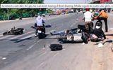 Xe khách vượt đèn đỏ gây tai nạn, nhiều người bị cuốn vào gầm xe
