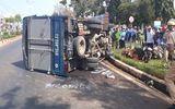 Gia Lai: Xe tải mất lái đâm xe máy, 4 người bị thương