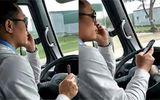 Tài xế lái xe buýt bằng khuỷu tay bị đuổi việc