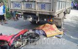 Xe máy va chạm với xe tải, 2 thanh niên tử vong