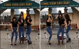 3 cô gái quẩy tưng bừng như đi bar trước cổng công viên Cầu Giấy để bán xôi: Dân mạng