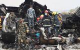 Hiện trường cháy đen vụ máy bay rơi ở Nepal khiến ít nhất 50 người thiệt mạng