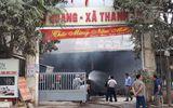 Khám nghiệm hiện trường vụ cháy chợ Quang ở Hà Nội