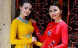 Hoa hậu Nga Aibedullina Talliya mặc áo dài, đọ dáng cùng Hoàng Thu Thảo