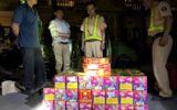 CSGT bắt vụ vận chuyển gần 1,4 tạ pháo trong đêm