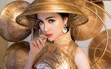 """Cận cảnh bộ trang phục """"Nghiêng che hồn Việt"""" của Thư Dung tại Miss Eco 2018"""