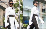 """Tin tức - """"Soi"""" street style cực chất của dàn sao Việt tại Vietnam International Fashion Week 2018"""