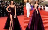 Lý Nhã Kỳ tô môi tím, diện váy xẻ cao táo bạo trêm thảm đỏ LHP Cannes 2018