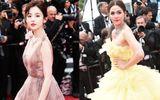 """Mỹ nữ Tân Cương đọ sắc """"thiên thần"""" Thái Lan trên thảm đỏ Cannes 2018"""