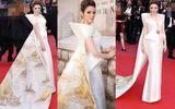 Lý Nhã Kỳ diện váy in hình Vịnh Hạ Long, rạng rỡ trên thảm đỏ Cannes 2018