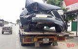Xe Land Cruiser biển xanh gây tai nạn, 2 người nhập viện