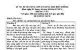 Đáp án, đề thi gợi ý môn Ngữ văn vào lớp 10 ở TP. Hồ Chí Minh