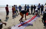 Cá hố dài 4m dạt biển Hà Tĩnh được người dân chôn cất theo phong tục