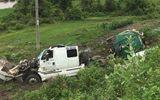 Tai nạn kinh hoàng: Xe bồn chở mật mía gãy đôi, 2 người nguy kịch ở Gia Lai