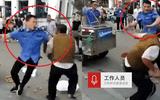 Tin tức - Video: Cán bộ đô thị cầm roi đánh người bán hàng rong dã man tại Trung Quốc