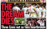 Truyền thông Anh nói gì về thất bại của đội nhà trước Croatia tại bán kết World Cup 2018?