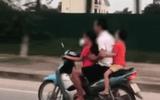 Video: Phẫn nộ người đàn ông để bé gái lái xe máy tốc độ cao trên đường