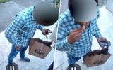 """Video: Shipper """"nhón"""" trộm khoai tây rồi ăn ngay trước cửa nhà khách hàng"""