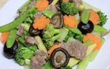 Món ngon mỗi ngày: Thịt bò xào rau củ tươi ngon
