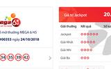 """Kết quả xổ số Vietlott hôm nay 26/10/2018: Jackpot hơn 20 tỷ đồng """"nở hoa hay bế tắc""""?"""