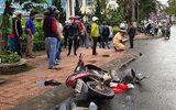 Xế hộp mất lái, gây tai nạn liên hoàn khiến 4 người nhập viện