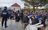Cảnh sát bắt học sinh biểu tình quỳ khiến người Pháp nổi giận