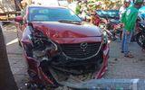 Ô tô mất lái gây tai nạn liên hoàn ở Vũng Tàu, tông gãy cột đèn giao thông