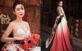 Tin tức giải trí - Huỳnh Vy diện váy đậm chất Á Đông đón Tết rực rỡ