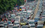 Cận Tết Nguyên đán, đường phố Hà Nội ùn tắc, chật cứng như nêm từ sáng tới chiều