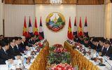 Tổng Bí thư, Chủ tịch nước Nguyễn Phú Trọng hội kiến Thủ tướng và Chủ tịch Quốc hội Lào