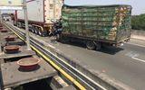 Xe tải húc đuôi xe đầu kéo trên cao tốc Long Thành, 2 người tử vong
