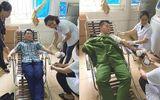 Hai chiến sĩ công an hiến máu cứu thai phụ qua cơn nguy kịch