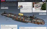 Tin thế giới - Nga hạ thuỷ tàu ngầm hạt nhân có thể trang bị siêu ngư lôi 'Thần biển' Poisedon
