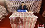 Doanh nhân Trung Quốc dùng chục tấn tiền mặt để… trang trí